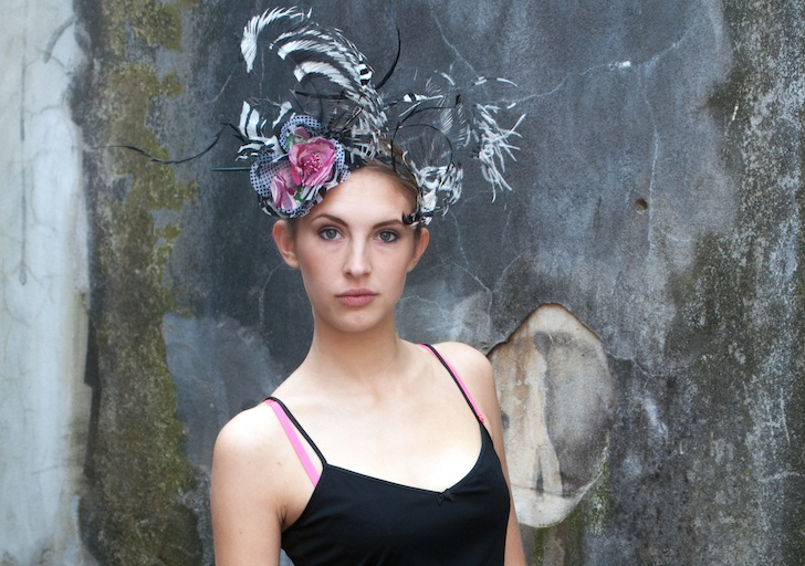 Headpiece by Lomax & Skinner. Modelled by Haisa. Image by Katie Van Dyck