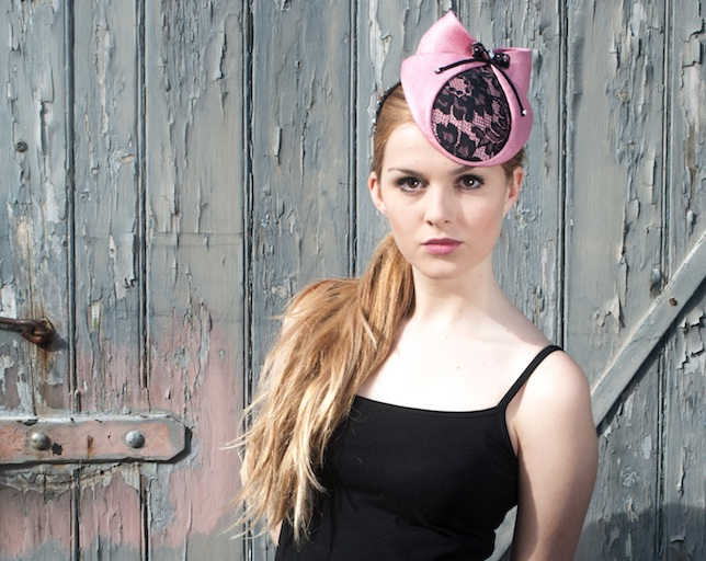 Pink cocktail hat by Lomax & Skinner. Image by Kaie Vandyck